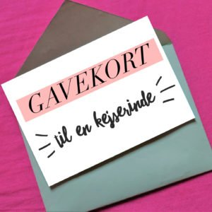Giv et gavekort til en kvinde, som har fået kejsersnit